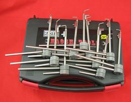 Haoshi 10Pcs 5 generation locksmith for Flagpole lock Improved Flagpole with Pin Locksmith Lock Picks Gold Flagpole lock