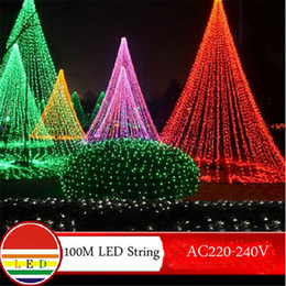 Wholesale-100m white led string light 600leds wedding partying xmas christmas tree decoration lights lighting