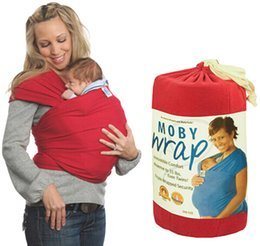 Wholesale Retail Colors Moby Wrap Elastic Cotton Newborn Two Shoulders Backpacks Solid Color Baby Carrier Wrap Canguru Baby Sling For Babies