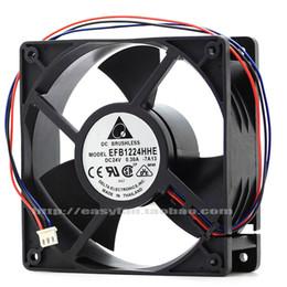 Original Delta EFB1224HHE 24V 0.30A 12038 12CM inverter cooling fan EFB1224SHE EFB1224LE EFB1224ME EFB1224HE EFB1224VHE