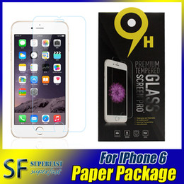 Wholesale For Galaxy S7 iPhone Screen Protector S6 LG G5 G Stylo Tempered Glass Protecter Screen Film Perfect Protection In Paper Package Pieces