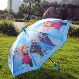 Wholesale New Frozen Umbrella Frozen Princess Elsa Anna Children Umbrella cm Frozen Series Via E Packet