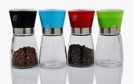 Manual Glass Pepper Salt Grinder Mill Hand Pepper Mill High quality