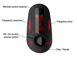 New Car Kit MP3 Player Wireless FM Transmitter Modulator mp3 mp4 USB SD MMC LCD  Remote Charging usb Charger for cell phone