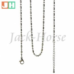 Wholesale mm L stainless steel floating locket chain ball chain bamboo chain adjustable necklace