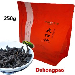 Wholesale 250g Chinese Top Grade Dahongpao Tea Wuyi Oolong Premium Da Hong Pao Big Red Robe Oolong Tea Wuyi Yan Cha Wuyi Cliff Wulong Black Tea