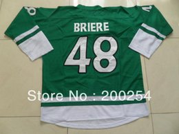 Wholesale 30 Teams Danny Briere St Patrick Day Special Edition green jersey all name number stitched