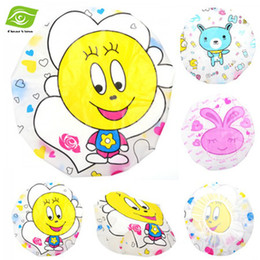 Wholesale 10PCS Waterproof Shower Cap High Elastic Cartoon Bath Shower Hat Cute Bathing Cap Baked Oil Steamed Cap dandys