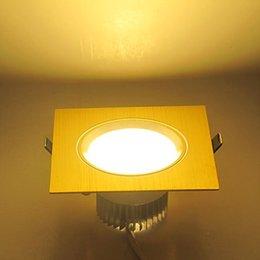 2016 единая панель Оптово-3W 6 SMD 5730 Теплый белый светодиодный квадратный Золотой глаз одиночный Downlight потолочного освещения панели освещения AC100-265V LEDTD072 Внутреннее освещение G единая панель продаж