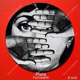 Wholesale 2015 Top Fashion New Europe Figurines Italy Fornasetti Decorative Plates Wall Plate Vintage Art European Fashion plate