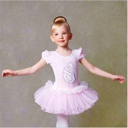 2017 vêtements de ballet pour bébé Bonne qualité Jupe Ballet enfants EuropeanAmerican style filles dentelle danse Vêtements bébé Robes enfants Fille Princesse Tutu Jupe Gaze vêtements de ballet pour bébé à vendre