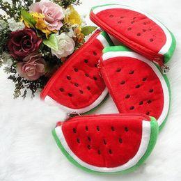 M size Women Girl Watermelon Zipper Purse Keyring Bag Cute Cosmetic Bag Mini bag Storage bags Make up organizer