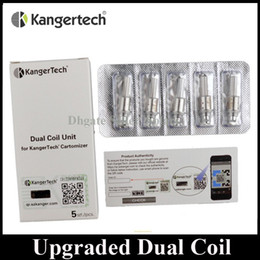 Wholesale Original Kanger Upgraded Dual Coil Replacement ohm Coil Head fit Authentic Kangertech Aerotank Genitank EMOW Mega