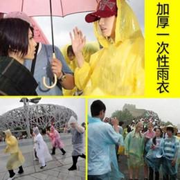 Wholesale-10 pcs set outdoor light disposable raincoat ride poncho plastic raincoat portable umbrella thickening