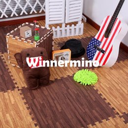 Wholesale MN Baby Play Mat Wood floor mat foam puzzle mats home living room bedroom pad Specification Family Carpet baby toys