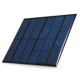 Compra Online Silicio w-Venta al por mayor 6pcs / lot 3.5W 6V 165 * 135mm resina de epoxi encapsulado USB Salida Silicio policristalino MIni Panel Solar para Prueba y Educación