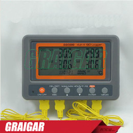 Wholesale Multi channel Digital Thermometer AZ88598 Channel K Type Thermocouple Temperature logger SD Card Data Logger AZ