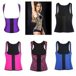 Caoutchouc respirante à vendre-Tissu respirant Shapewear latex sport Waist Baskets Vest Rubber Acier Désossé Body Shaper Underbust corset épaule 6 styles C8484