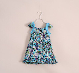 Wholesale The new summer Europe and the United States of big shop sign Design and color of the girls dress Children s clothing