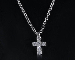 Hot ! 10pcs Europe and the United simple fashion necklace Cross Rhinestone Clavicle Necklace