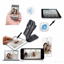 Mini cámaras wi fi en Línea-Cámara de alta definición Wi-Fi de la cámara espía Mini DV IP inalámbrico 1280 * 720 video ocultado DVR videocámara P2P 20pcs / lot