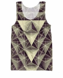 Wholesale w151231 RuiYi New Arrive Women Men Basketball Jersey Isometry Tank Top geometric display of light and shades of gray d vest Casual