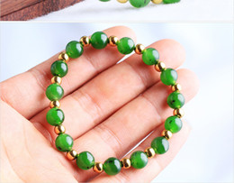 China beautiful and nephrite jade bracelets jade bracelet transport gold bead bracelet men and women hand string of best gifts for Christmas