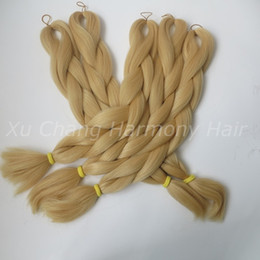 Kanekalon Jumbo braiding hair 24inch Folded 80grams Solid BUTTERSCOTCH Color Xpression Synthetic Braids Hair Extension T0935