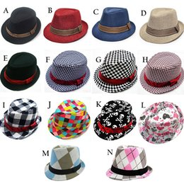 Wholesale Kids Fedora Ears - 14colors Baby kids children's Caps accessories hat boys grils hats fedora hat good quality hot selling g143
