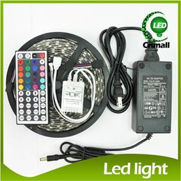 Wholesale Waterproof Strips IP65 M Leds SMD RGB Lights Led Strips leds M Remote controller V A power supply with EU AU UK US SW