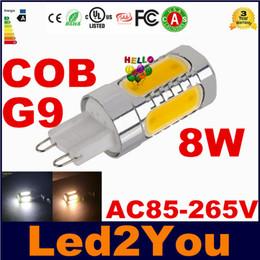 2017 ampoule g9 conduit G9 Led Ampoule 8W LED COB Spot Lights 360 Angle blanc chaud blanc froid Led maïs lumières pour l'éclairage de magasin AC 85-265V ampoule g9 conduit à vendre
