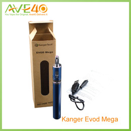 Wholesale Kanger E cigarettes evod starter kit Evod Mega kit mah battery and ml atomizer tanks original from AVE