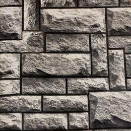 Fond d'écran d'ardoise à vendre-2015 3D brique classique vintage pierre d'ardoise fond d'écran papier peint de vinyle de qualité pour fond de TV