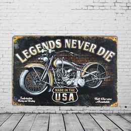 Wholesale Retro Motorcycle Metal Painting Pub Wall Art Tavern Garage Rustic Decor Home Bar Vintage Sign Tin Plaque
