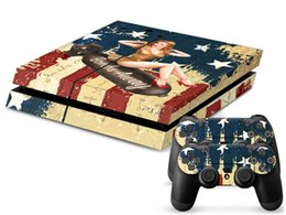 1Pcs High-quality WW2 BOMBER Pop Decal PS4 Sticker 1 Console Skin and 2 Controller Sticker skin For PS4