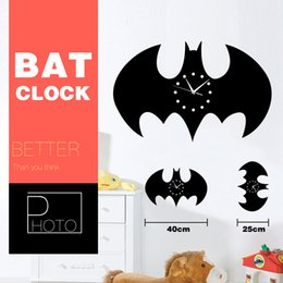 Wholesale Batman DIY Wall Stickers Living Room Wall Clock Batman D Crystal Mirror Living Room Home Modern Decoration