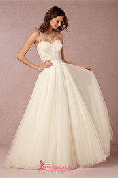 New Elegant A-Line Wedding Dresses Lace Backless Beach Bridal Gowns A-Line Sweetheart Ruffled Plus Sizes Bridal Gowns