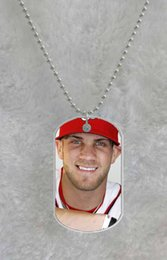 Bryce Harper MLB custom Pet Dog Tag pendant necklace Chain Metal Tags