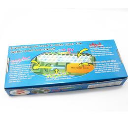 Las vendas al por mayor del telar fijaron los juguetes coloridos del juguete de los niños del kit DIY del caucho del telar de la diversión para el brazalete de la pulsera del encanto (6boxes / lot) desde banda de goma al por mayor del kit de pulsera fabricantes