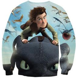 w1213 Women men 3d sweatshirt Dragons Riders of Berk cartoon hip hop sweatshirts harajuku hoodies swag