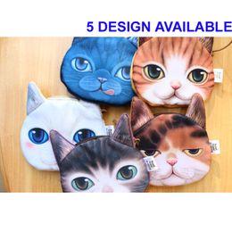 Wholesale New Mini D Cat Bags Animal Face Purse Coin Bag Girls Kids Wallet Makeup Handbags Clutch Pouch Plus Colors Keys Phone Holder Bags
