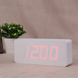 Wholesale Wooden clock factory outlets led large screen digital display clock electronic clock fashion living room bedroom alarm clock NZ