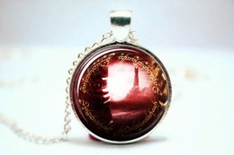 Wholesale 10pcs LOTR Lord of the Rings Sauron Tower Red Necklace Glass Photo Cabochon Necklace
