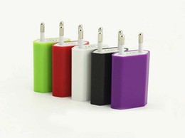 EU Plug Travel wall charger 1A USB Charge adapter for iPad iPhone SAMSUNG mobile phone charger