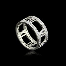 Vintage Punk steel men Ring fashion Unique Carved Antique Silver roman numerals Lucky Rings for Women Boho Beach Jewelry