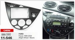 CARAV 11-546 Top Quality Radio Fascia for FORD Focus 1998-2004 (Right Wheel   Black) Stereo Fascia Dash CD Trim Installation Kit