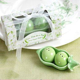 Discount salt boxes - Boxed Two Peas in a Pod Salt & Pepper Shakers Wedding Party Baby Shower Favors