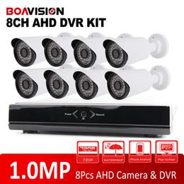 Sécurité facile en Ligne-Système de caméra 8CH 720P Full HD DVR AHD P2P Easy Access Security System-Camera DVR 8CH 720P AHD Kit 1.0MP Mini CCTV AHD extérieure