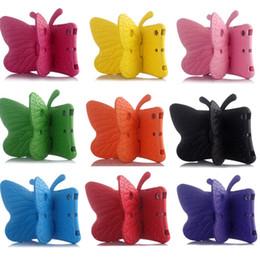 Grossiste Papillon Design Shockproof Enfants Poignée EVA Foam Housse Pour Apple pour iPad Mini1 / 2/3 10pcs / lot Livraison gratuite à partir de enfants ipad poignées de cas fabricateur