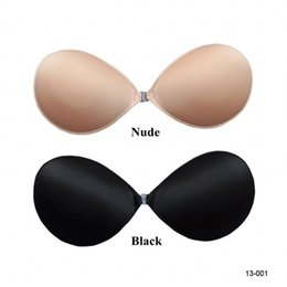 Wholesale Cheap Breast Bras Nude Black Strapless Backless Invisible Self Adhesive Silicone Hand Washable Cups In Stock Bra